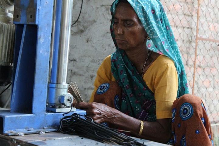 A woman at Paldi-Kankaj