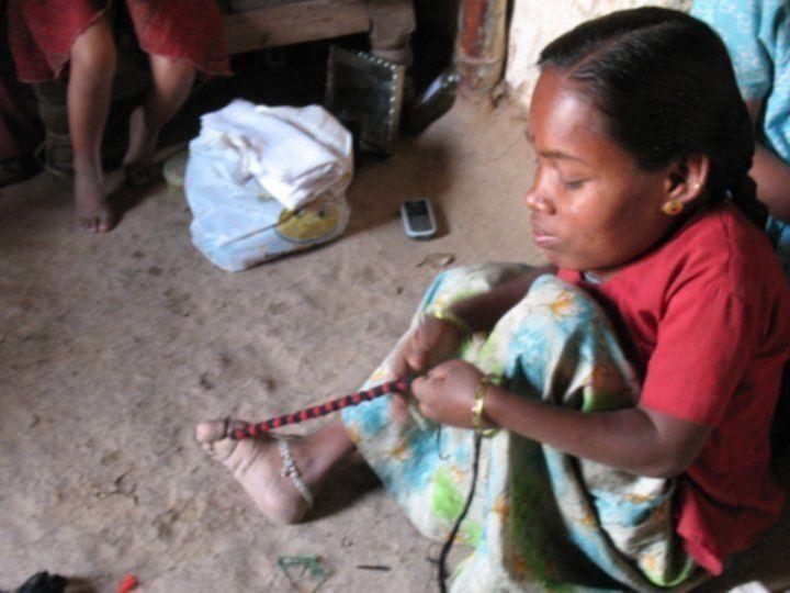 A craftswoman at work