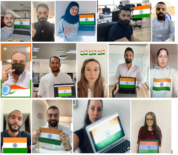 Employees in solidarity with India