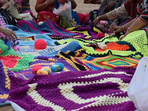 We (The MICQ Group) are fundraising to bag a Guinness world record for India by making the largest Crochet blanket.