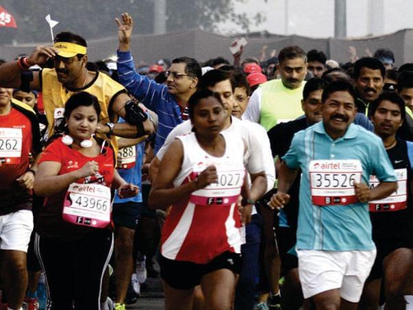 Vikas runs the Delhi half-marathon for United for Hope on Nov. 29th