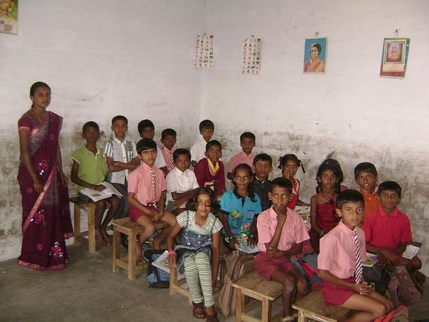 Fundraising at this low income school for basic amenities in Bangalore