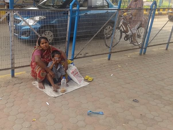 Forced to beg on the streets, This woman seeks help to get a job