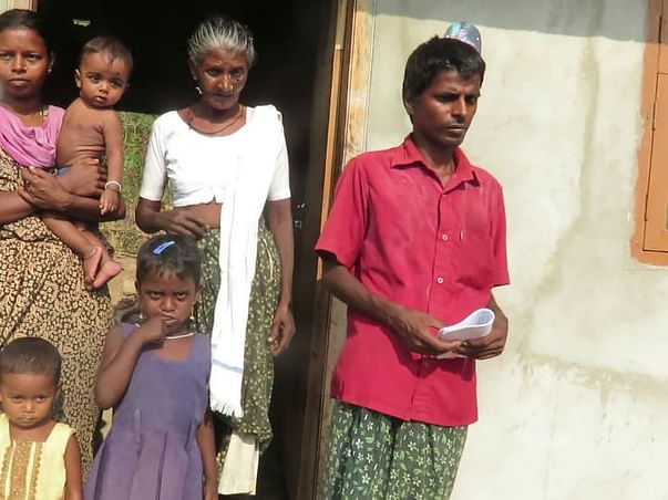 Help this blind family build their home and stand on their feet