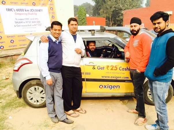 Paralysed and wheel chair bound, but all set to drive 8000 kms...