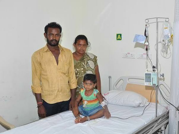 Parents of 3-year-old with a blood disease  seeks help for treatment