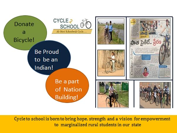 Help provide cycles to help rural girls travel to school