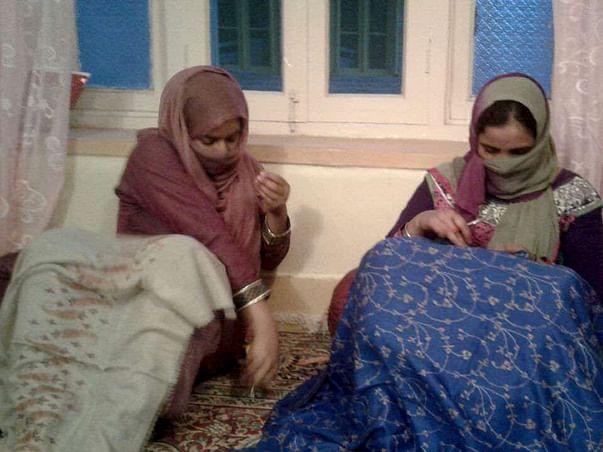 Helping kashmiri women artisans for attending International Trade Fair