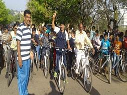 Peace Ride: Support cycling and Road Safety, Sanjaynagar