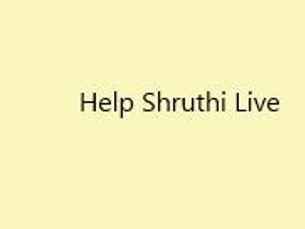 Help Shruthi Fight For Her Life