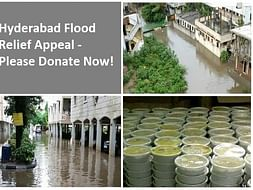 Food Packets for Flood Victims in Hyderabad!