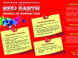 Red - Earth Disposal of sanitary pads without burning
