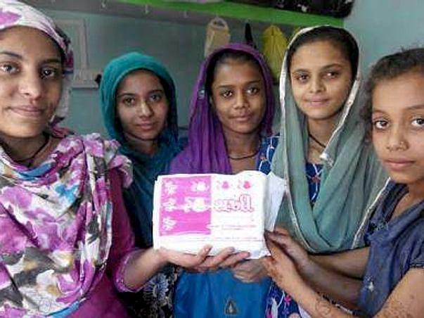 Sanitary pads for girls in Bhuta village