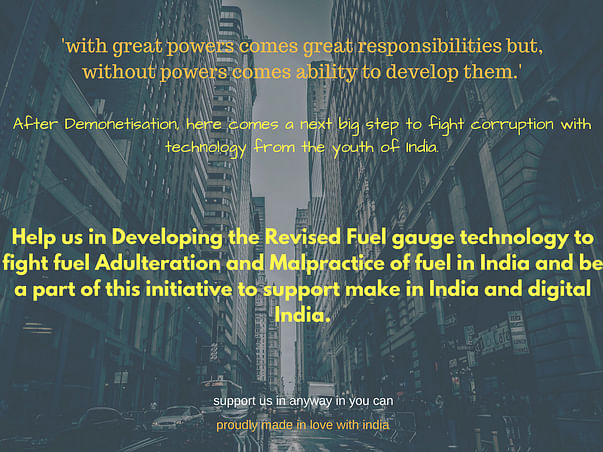 Help Us to Fight Fuel Adulteration