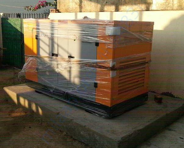 Picture of the generator purchased and installed at our orphanage prem