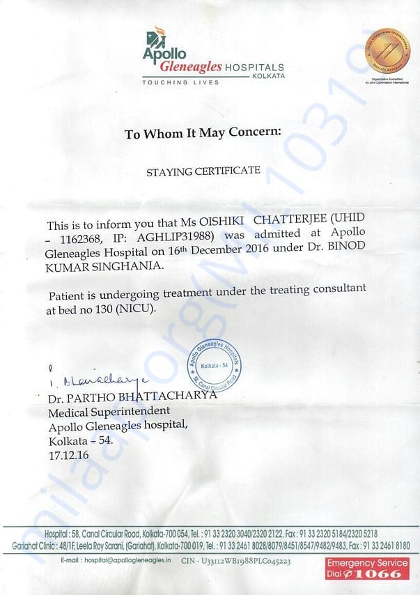 Staying Certificate