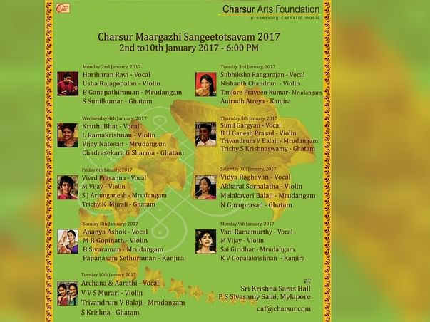 Support Charsur Arts Foundation To Preserve Carnatic Music