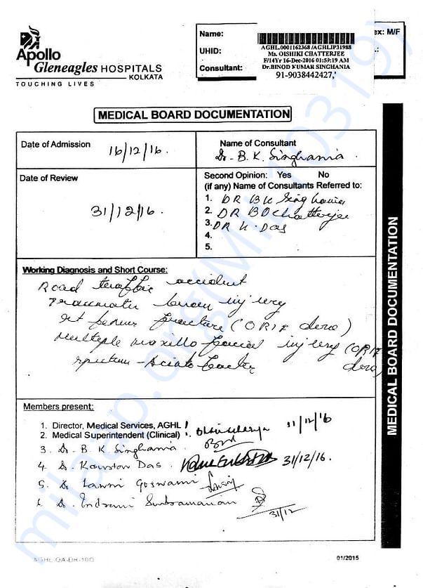 Medical Board Outcome (Dec 31, 2016) - 2