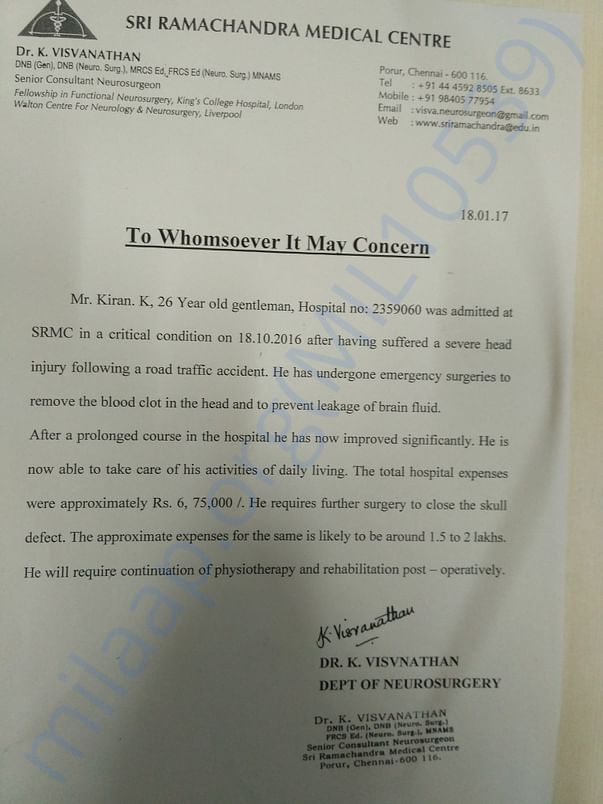 Hospital Certificate