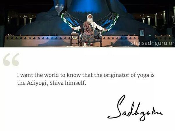 Aadiyogi Launch. Turn inward  for wellbeing.