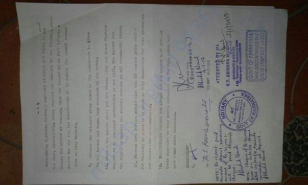 New house agreement