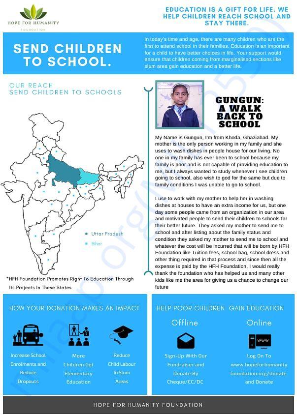 2. Send children to school project