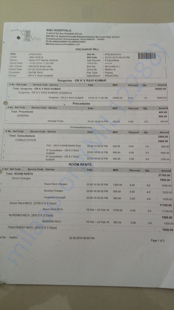 Bills from birth of baby - 2