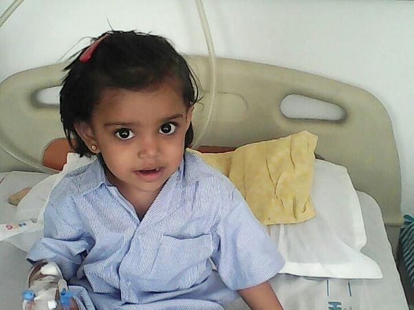2-year-old Mitakshi's Father Has Promised To Save Her From Cancer