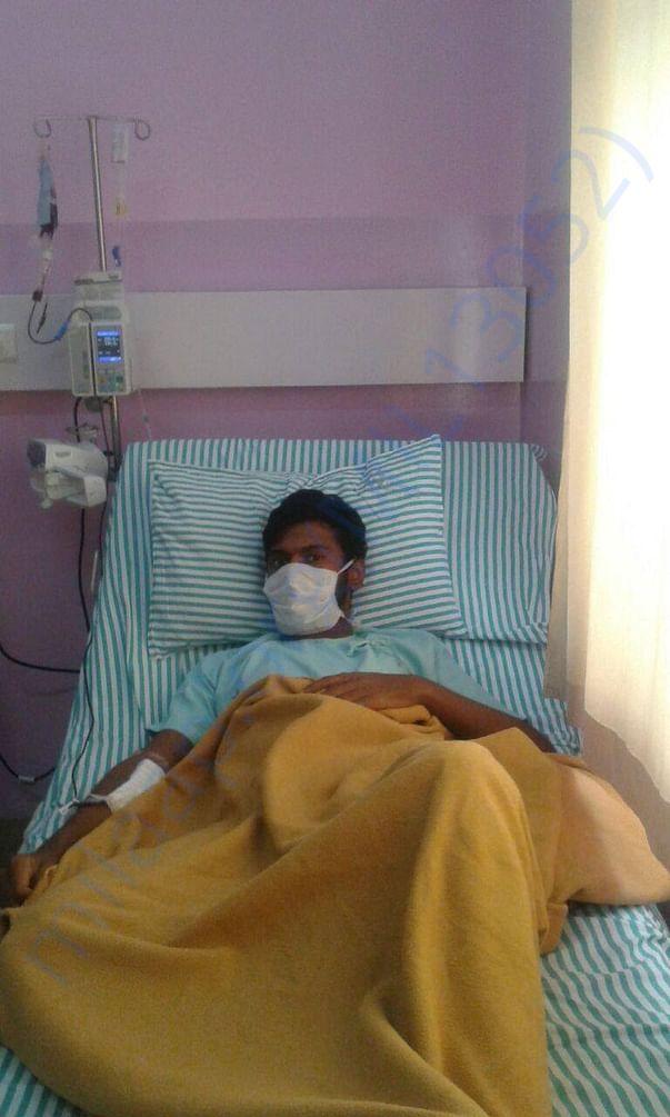 Amal getting blood transfusion done