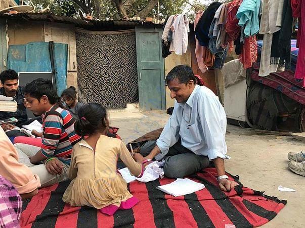Vidya vistaar classes gole market, jhuggi camp, pesha road, delhi
