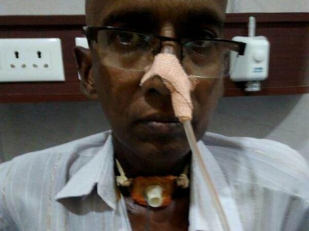 Help Narasa Reddy Afford Treatment for Throat Cancer