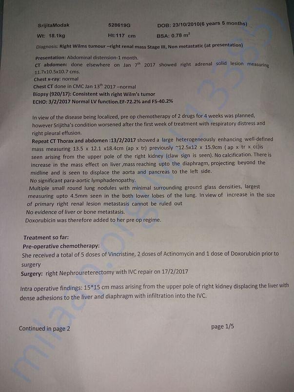 Post operative chemotherapy protocol