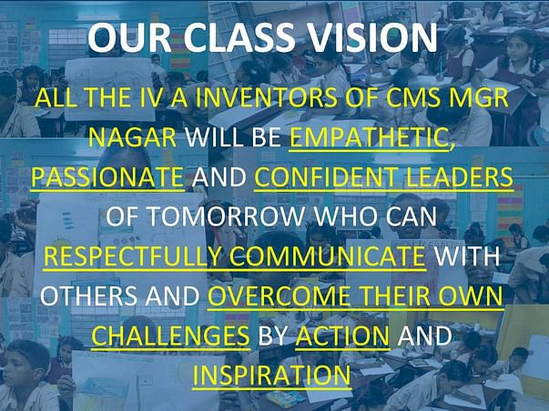 Support and share the dreams of V A Design Thinkers at CMS MGR Nagar!