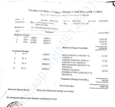 invoice: Chemotherapy