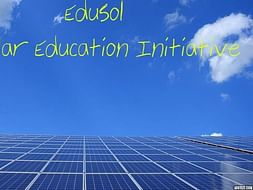 Help Me Promote Solar Education Through Project EduSol!