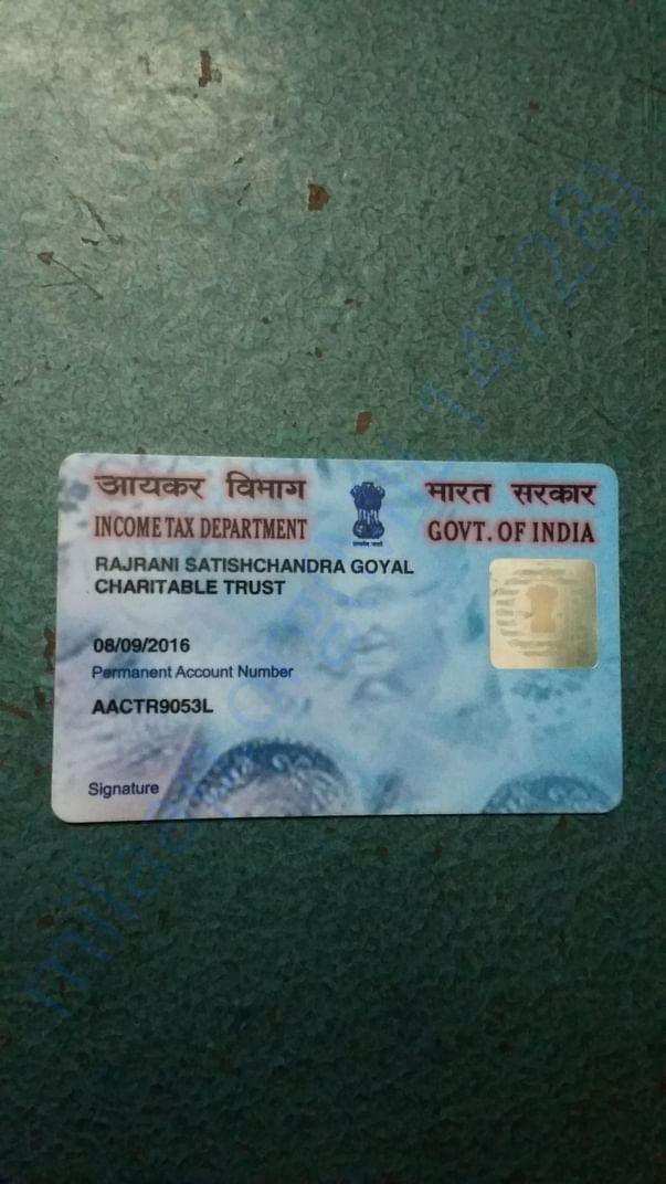 Trust Permanent account number registration