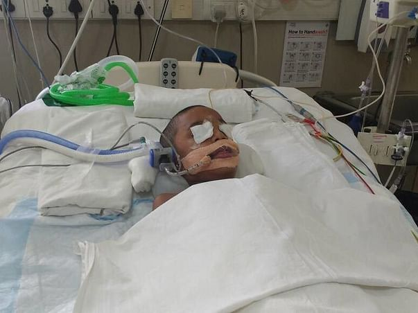 He Is In The ICU Struggling To Breathe Instead Of Being At School