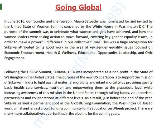 Sukarya Going Global