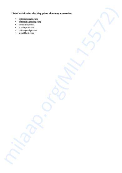 Websites for ostomy support wear