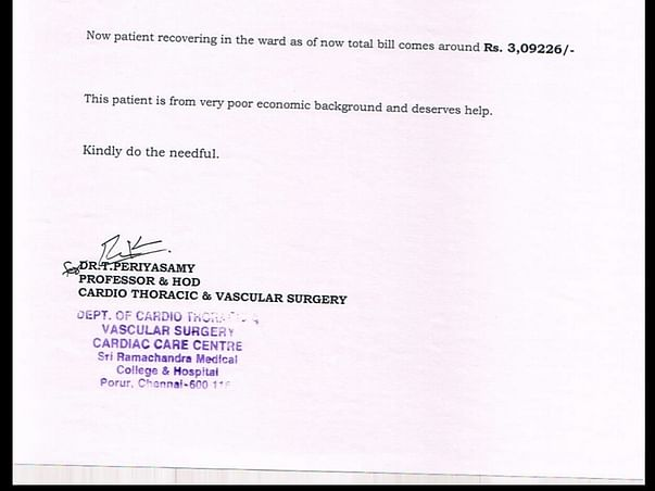 Help Requested For 12 Year-Old Kirubakaran's Heart Surgery