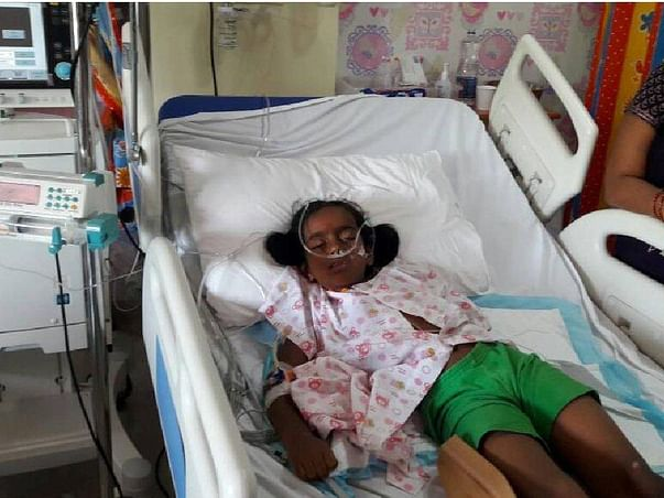 7-year-old Vyshnavi had a brain stroke that made her unable to speak
