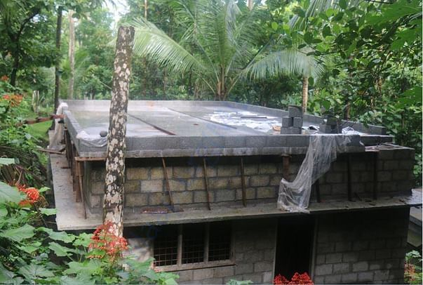concreting of the roofing is over yesterday 26/06/2017