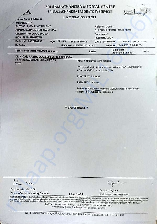 Investigation report - Pathology & Haematology - 2/2