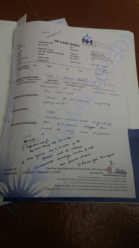 Narayana Hrudyalya Report