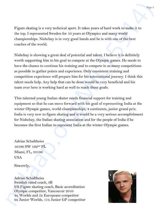 Coach recommendation letter
