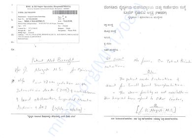 Bengaluru Mediacal Collage Doc's note