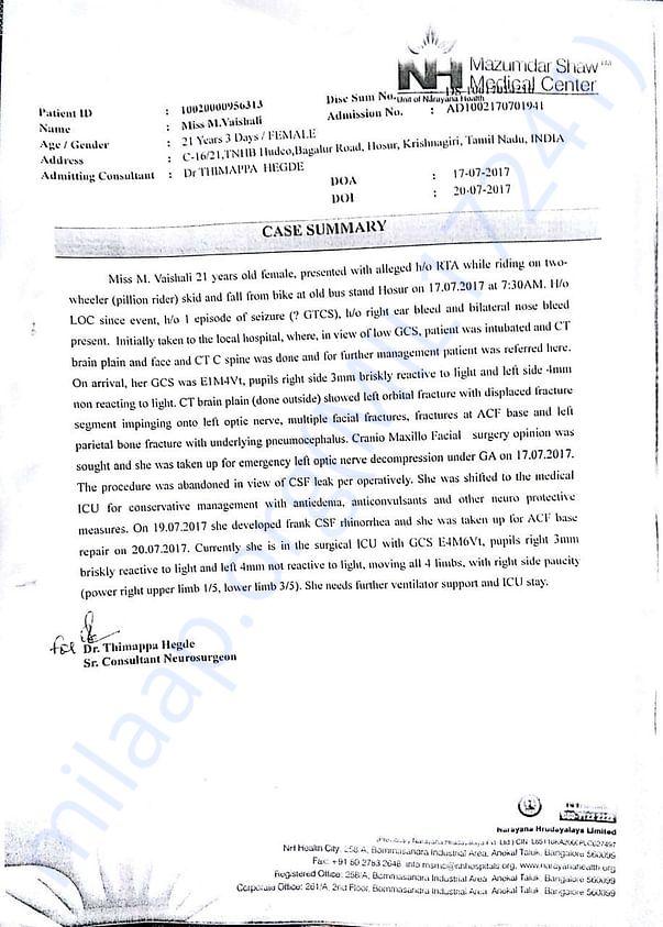 Case Summary Details