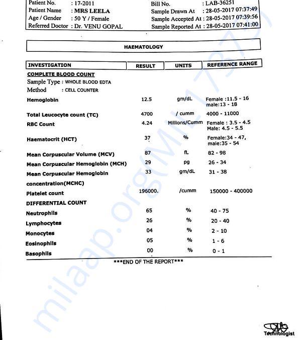 Lab test report4