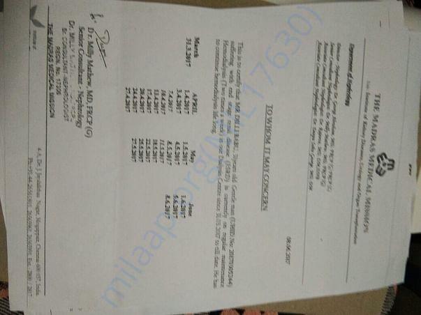 Letter for dialysis