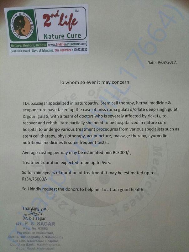 doctors statement